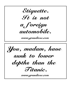 Picture: Manners Cards